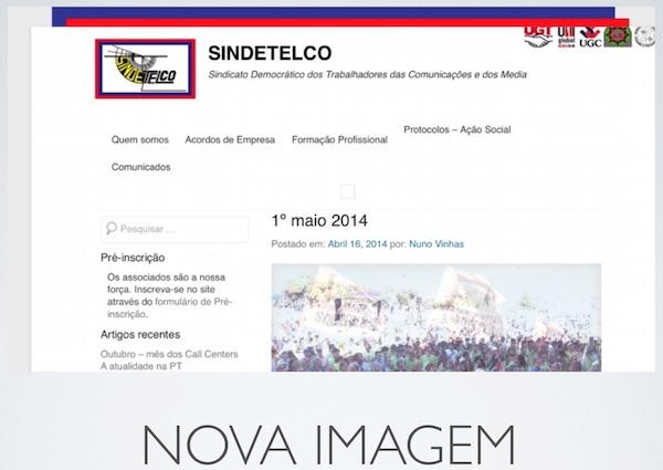 Novo site SINDETELCO